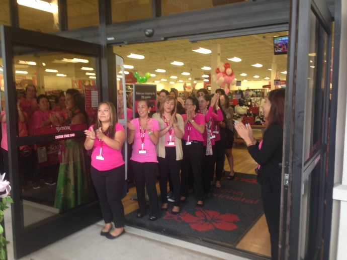 T.J. Maxx staff welcome their first shoppers