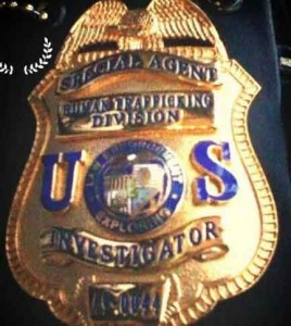 Badge used by suspect in deadly shootout with police. Photo credit Maui Police.