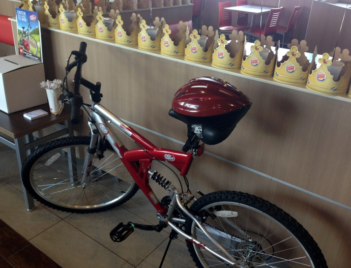 burger king bike