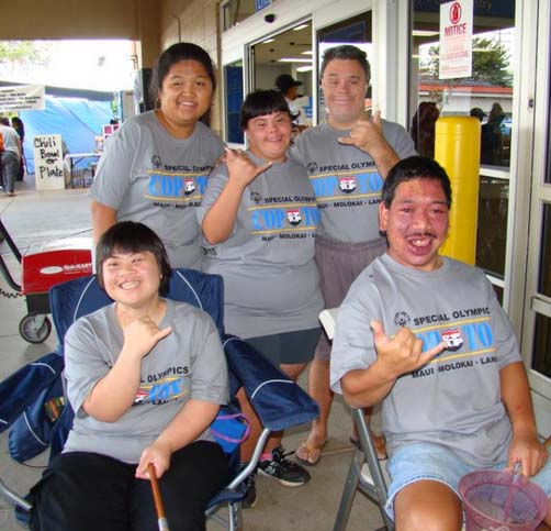 Cop on Top fundraiser for Special Olympics. Photo credit: Maui Police Department.