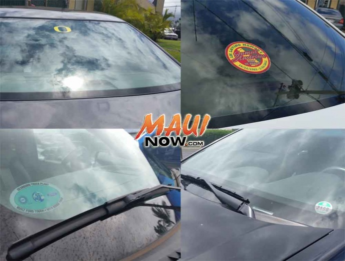 Vehicle Decals. Maui Now image.