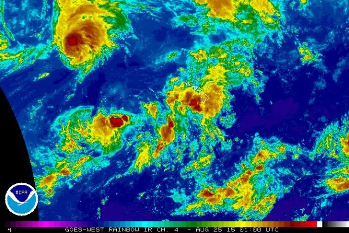 Kilo 2 p.m. satellite imagery 8/24/15. Image credit: NOAA/NWS.