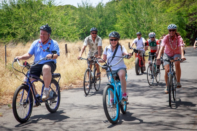West Maui Greenway with  Councilman Don Couch. Photo courtesy Maui Bicycling League.