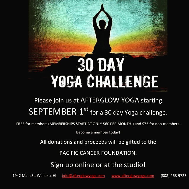 Afterglow Yoga 30 Day Challenge.
