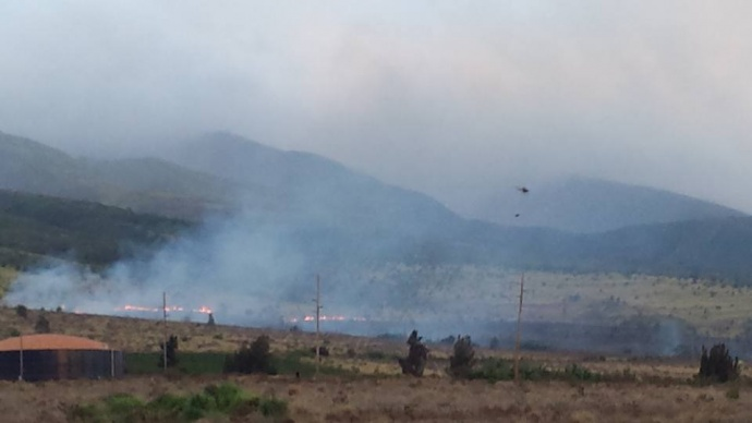 Kāʻanapali fire, 8/14/15. Photo credit: Jennifer Jenkins Deatrick.