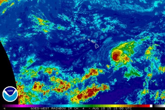 Hilda satellite imagery Aug. 10, 2015. Image: NOAA/NWS/CPHC