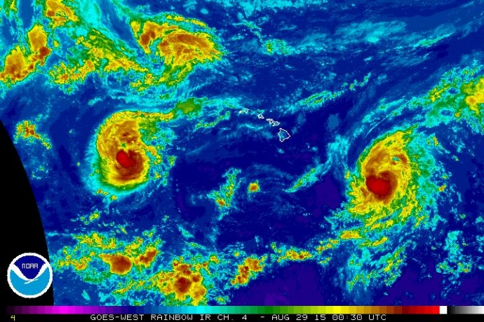 Satellite imagery Aug. 28, 2015. Image credit: NOAA/NWS.