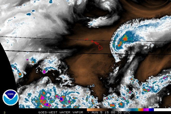 Water Vapor IMAGE: NWS at 2 p on Aug. 4,2 015.