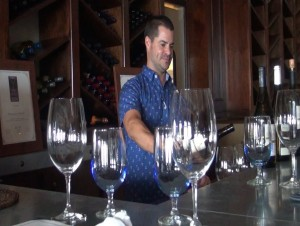 Preparing for a wine tasting at Fleetwood's on Front Street. Photo by Kiaora Bohlool.