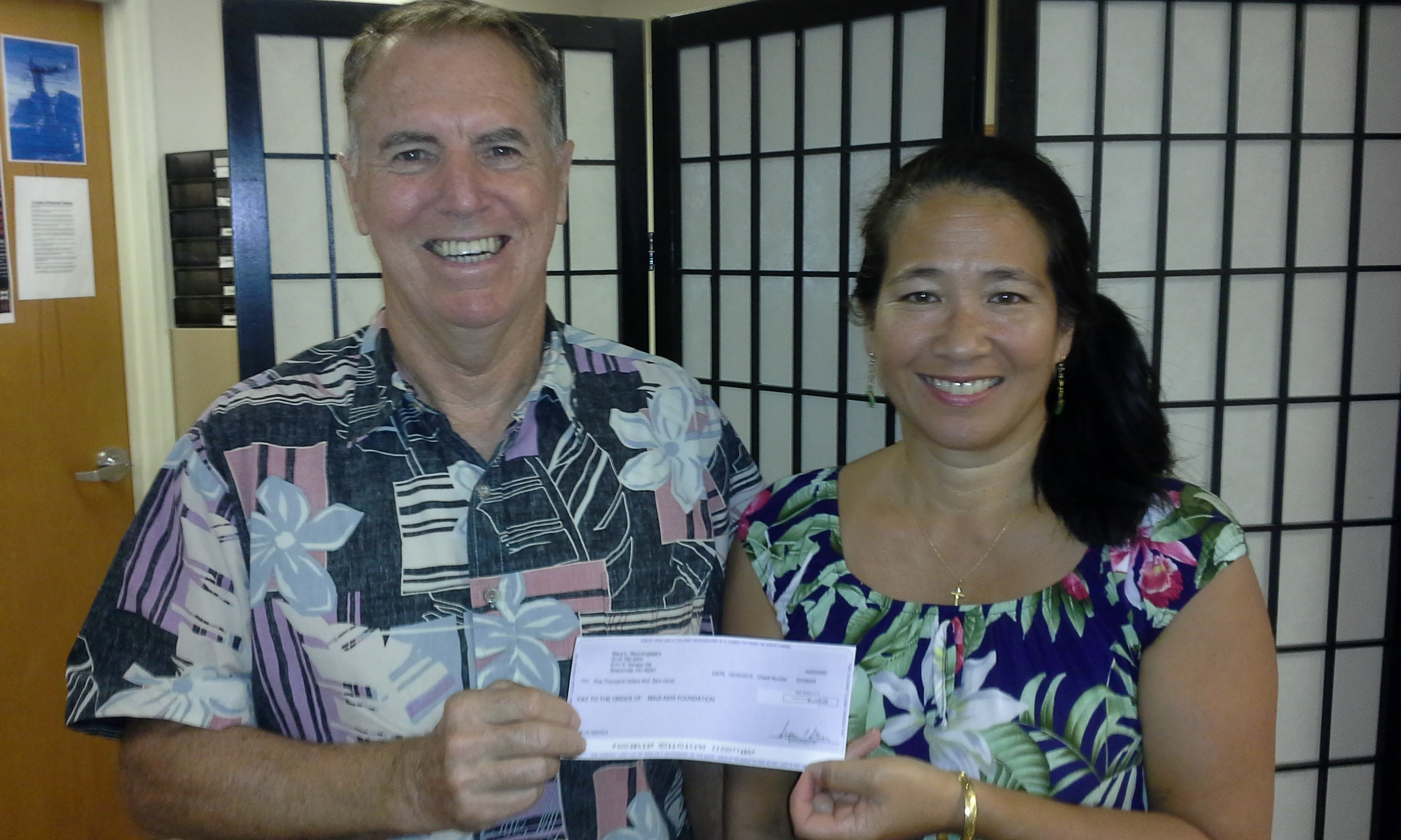 Maui AIDS Foundation Accepts $5,000 Donation from Macy's for Aloha Emergency Fund. Photo provided by MAF.