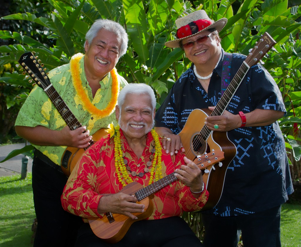 George Kahumoku, Richard Ho'opi'i and Led Kaapana. Courtesy photo.
