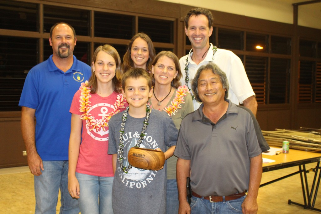 """Family of the Year,"" David Stoltzfus and family with Darren Strand and Warren K. Watanabe."
