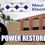 Power Restored After Lightning Strikes Kahului Utility Pole