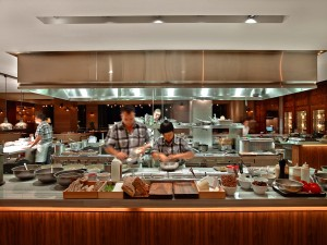 Chefs cook in Ka'ana Kitchen. Photo by Andaz Maui at Wailea Resort.