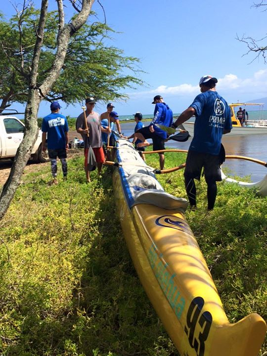 Primo Molokaʻi launch. 2015 Maui Nui Canoe Race. Courtesy photo.