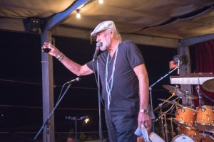 Mick Fleetwood gives a toast to the crowd at his restaurant's 3rd anniversary party. Photo by: ©AndrewStuart.com