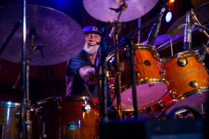 Mick Fleetwood jams on the drums with the Mick Fleetwood Blues Band. Photo by: ©AndrewStuart.com
