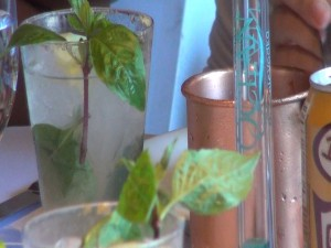 A mix of drinks at Moscow Mule Maui Style.
