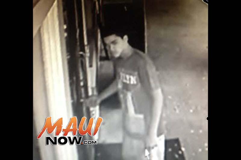 Surveillance image, Aug. 23, 2015. Image credit: Maui Police Department.