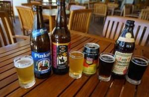 Beers pairings for Sheraton Maui's Black Rocktoberfest four-course menu. Photo by Sheraton Maui Resort & Spa.