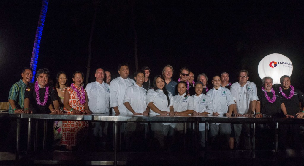 To celebrate his life and achievements, the Festival honored Shep Gordon with a six-course dinner created by six of his chef friends at the Hyatt Regency Maui Resort and Spa. Photo credit: Chuck Bergson.
