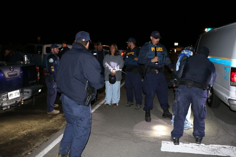Mauna Kea arrests, Sept. 9, 2015. Photo credit: DLNR.