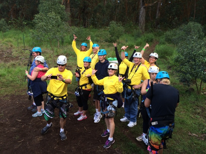 In 2014, the 4th Annual Zip for the Trees event raised more than $7,500 for Maui Children's charities. Photo credit: Victoria Hoag.