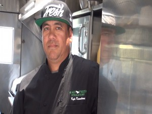 Chef Kyle Kawakami, owner of Maui Fresh Streatery gourmet food truck. Photo by Kiaora Bohlool.