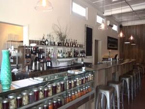 Bar area at Hāna Ranch Provisions in Pāʻia. Photo by Kiaora Bohlool.