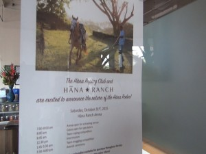 Oct. 31 Hāna Rodeo flyer, posted at Hāna Ranch Provisions in Pāʻia. Photo by Kiaora Bohlool.