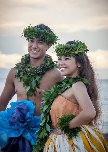 Leimakamae Maura Kea of Hālau Kekuaokalāʻauʻalaʻiliahi and Kaleookalani Pinto of Hālau Hula ʻO Kawaihoʻomalu took home the overall Wahine and Kāne titles respectively in the 2014 event. Photo credit: Dee Coyle.