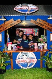 Bubba Gump Shrimp Company booth at 2015 Lahaina Plantation Days. Photo courtesy of Lahaina Restoration Foundation.