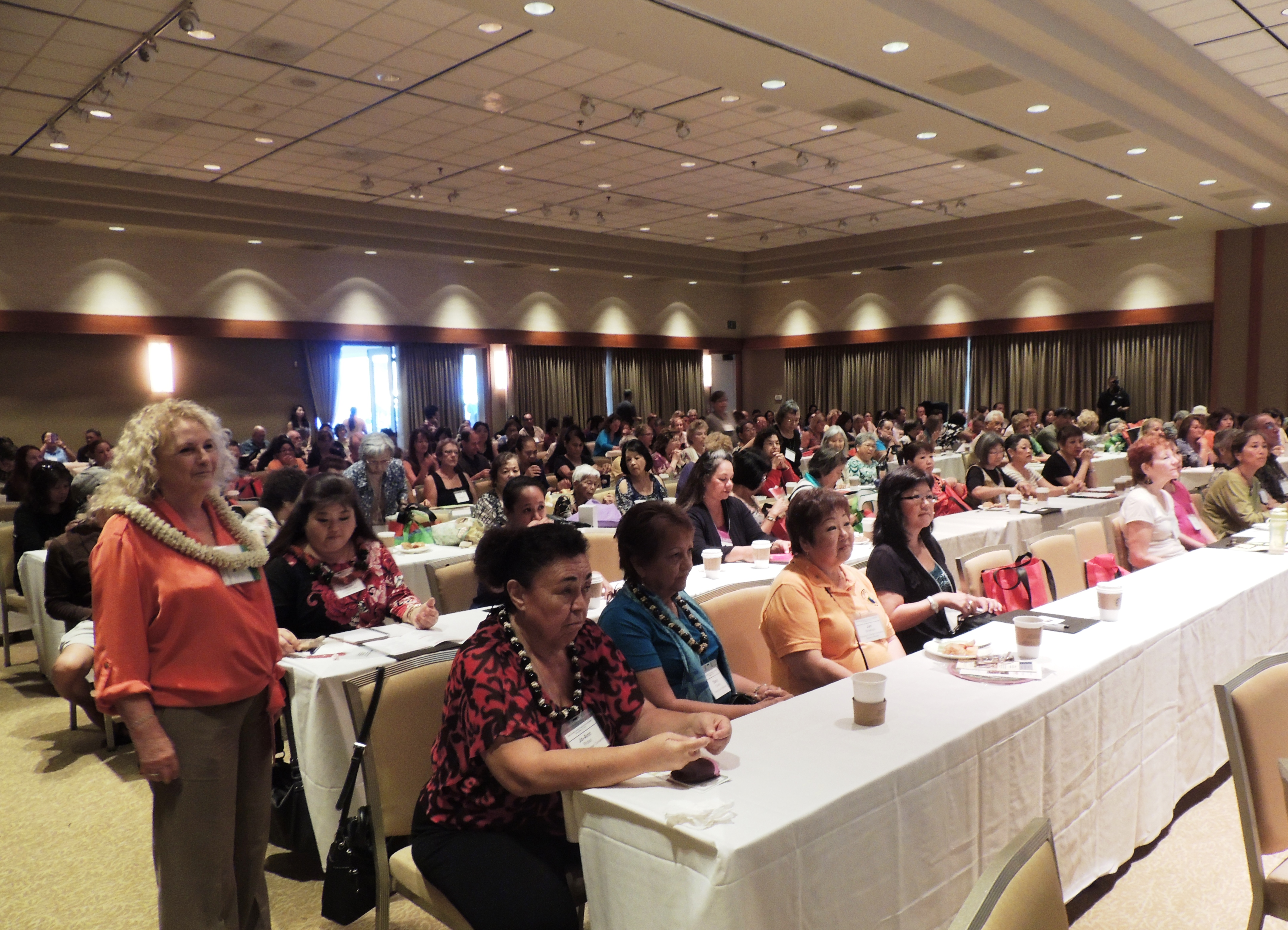 The 2014 Family Caregivers Conference drew a large audience of government officials, agency representatives and family caregivers. Photo credit County of Maui, Monica Morakis.