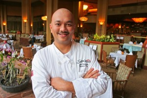 Chef Geno Sarmiento, cooking in the 2015 Noble Chef benefit gala for MCA.  Photo courtesy of Noble Chef.