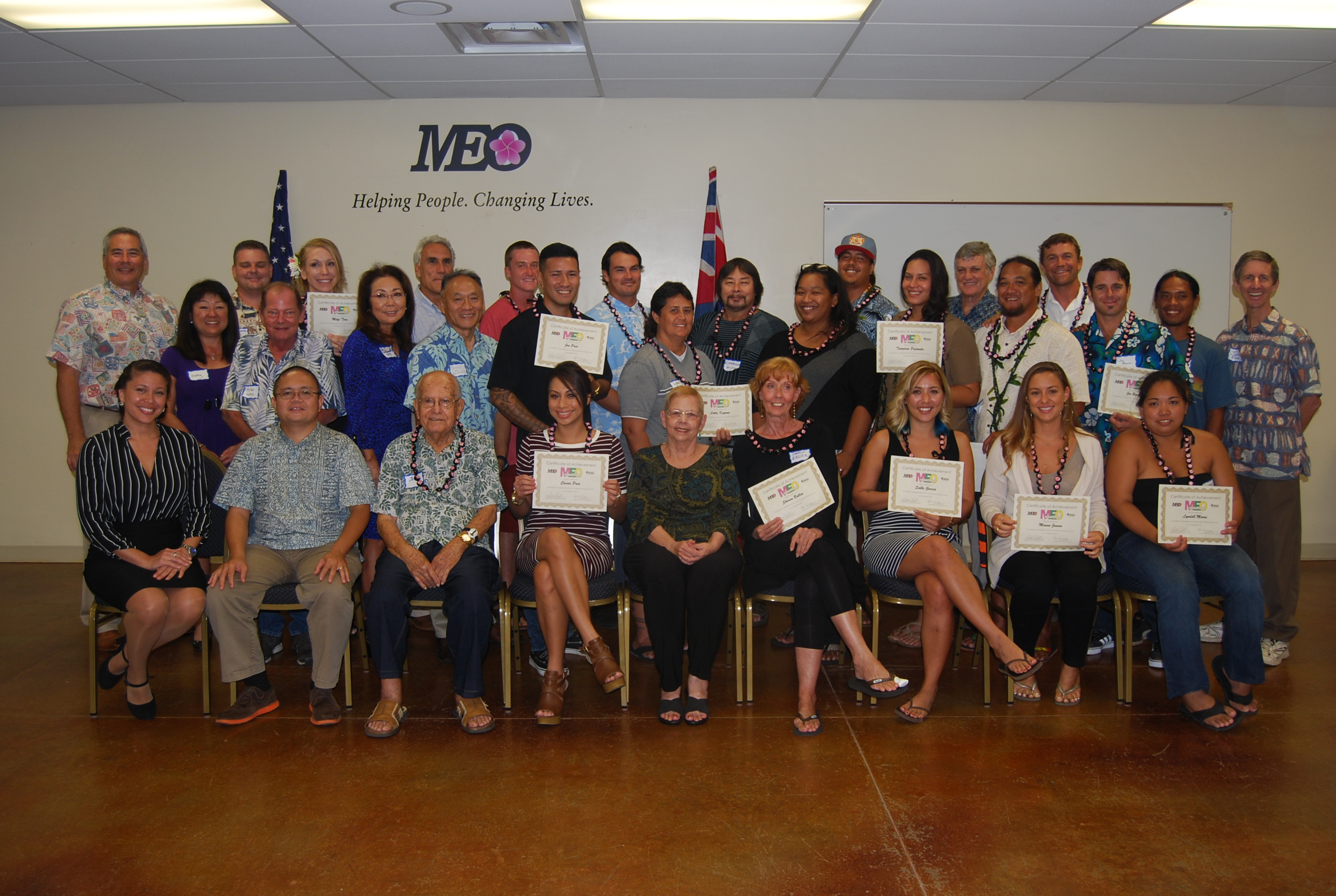 Twenty students recently graduated from Maui Economic Opportunity's Core Four Business Planning program. MEO photo.
