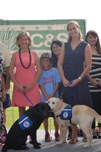 Assistance Dogs of Hawaii and Kīhei Little League. Photo credit: HC&S.