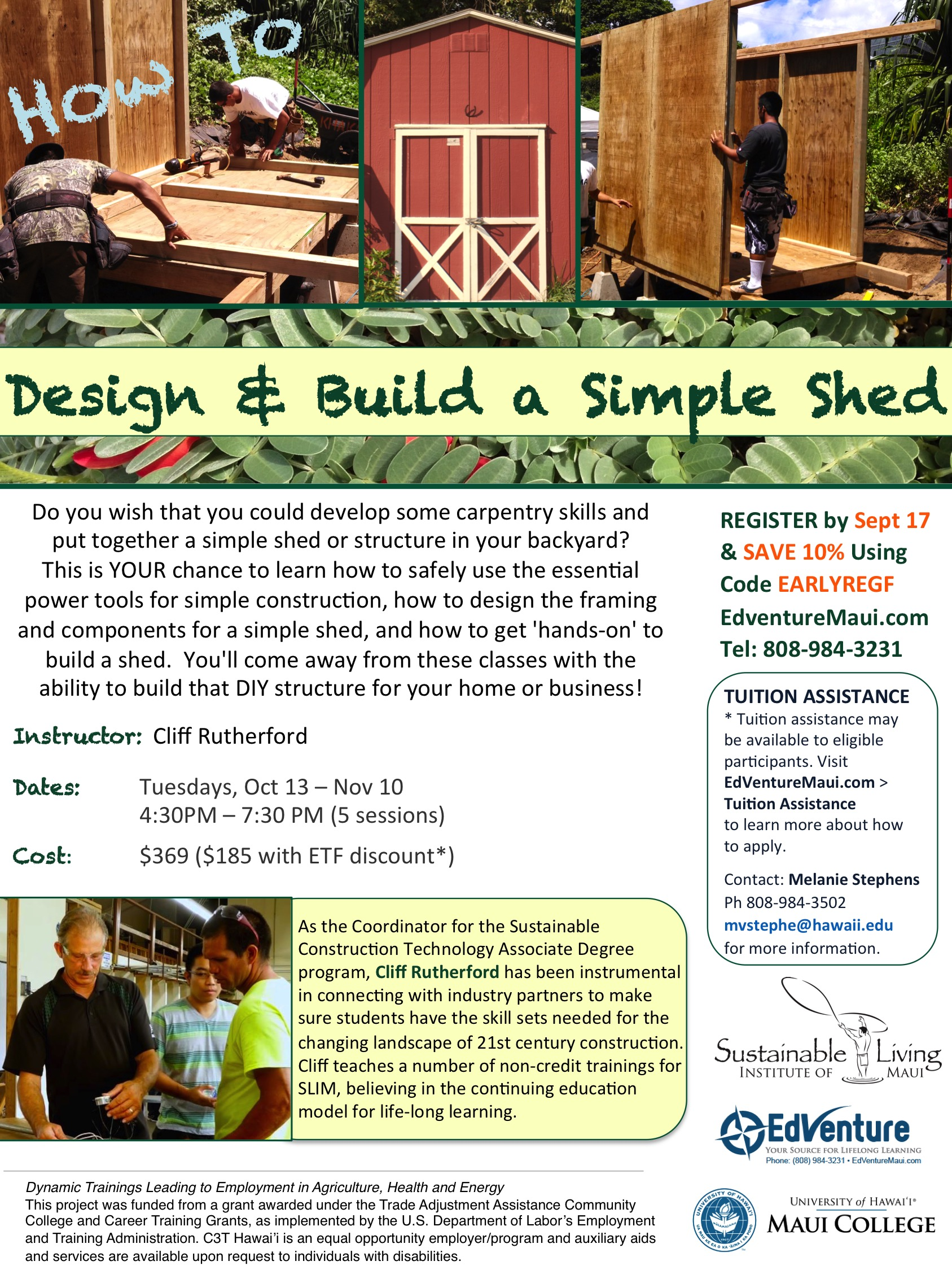 How To Design and Build a Simple Shed_FALL 2015