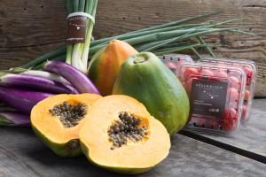 Fresh produce at Hāna Ranch, from the organic farm. Photo courtesy of Hāna Ranch.