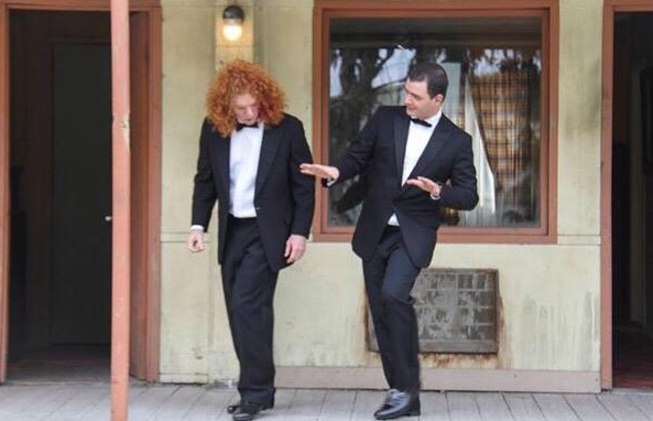 Creature at The Bates Motel, featuring Brian Evans and Carrot Top. Photo provided by Brian Evans.