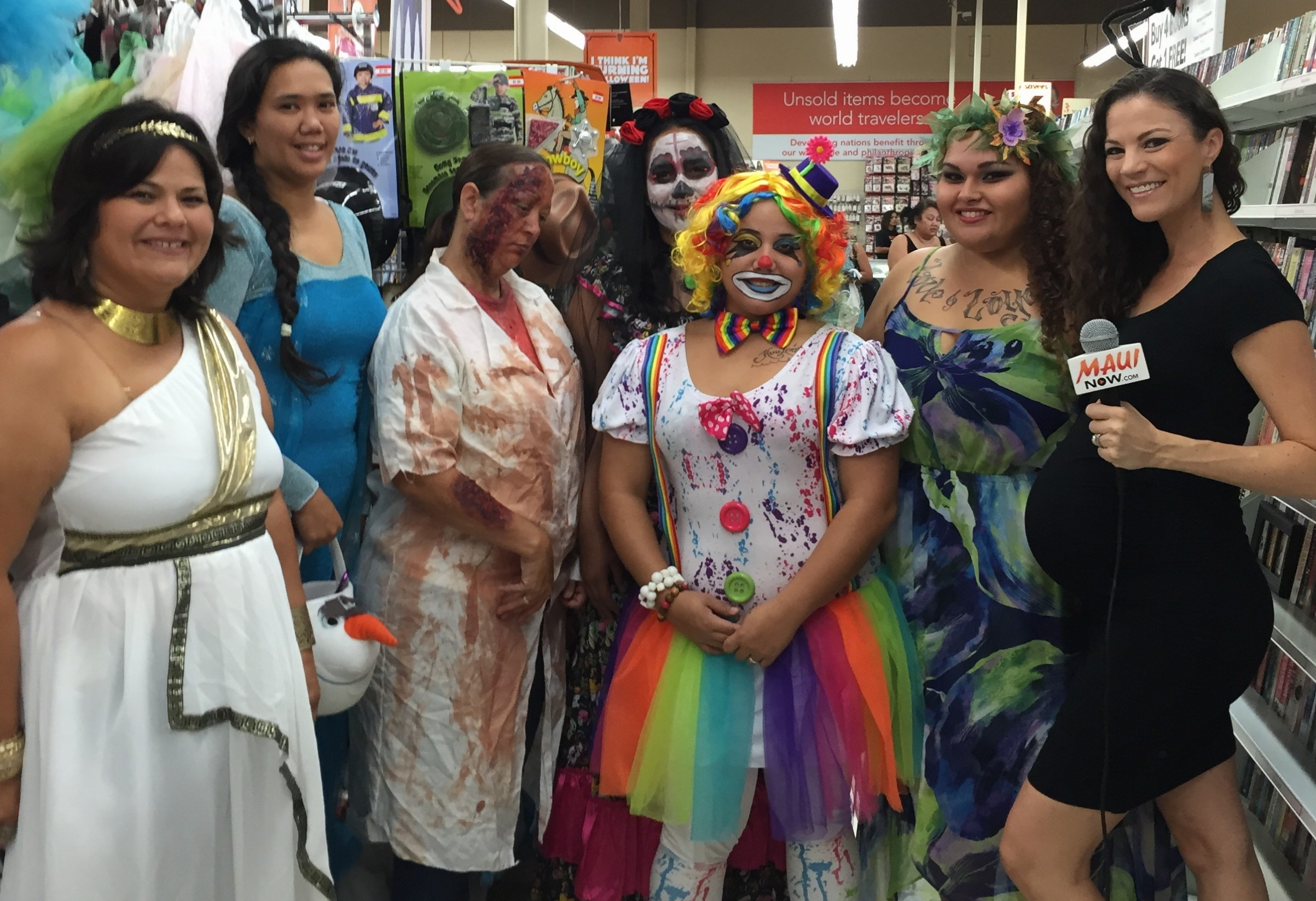 maui nows malika dudley checks out savers for halloween costume ideas