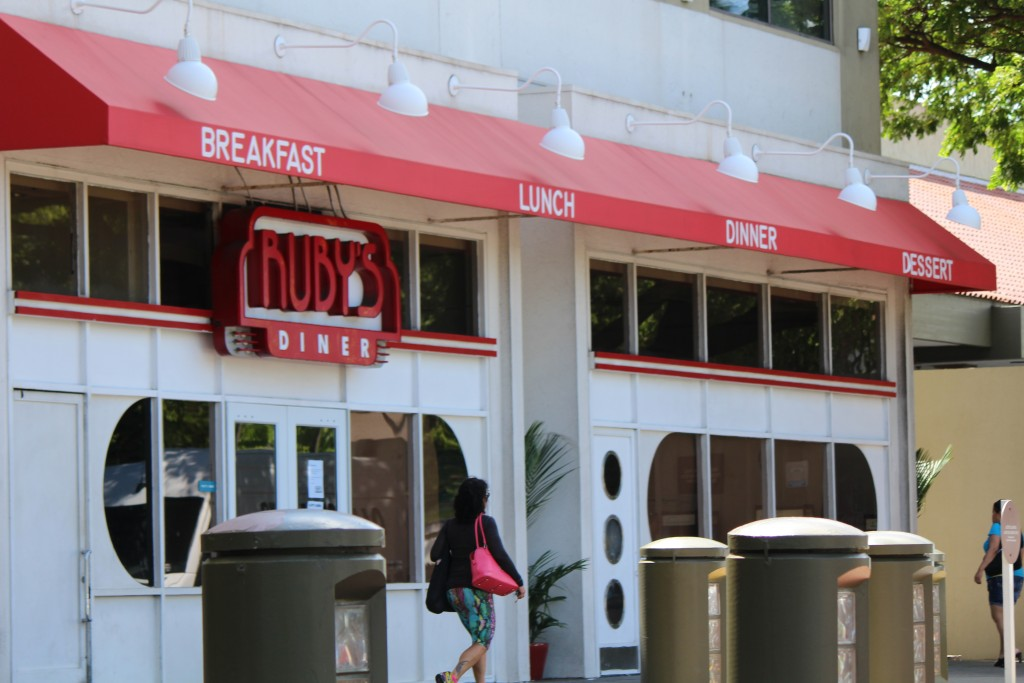 Ruby's Diner at the Queen Kaʻahumanu Shopping Center in Kahului. Photo by Wendy Osher.