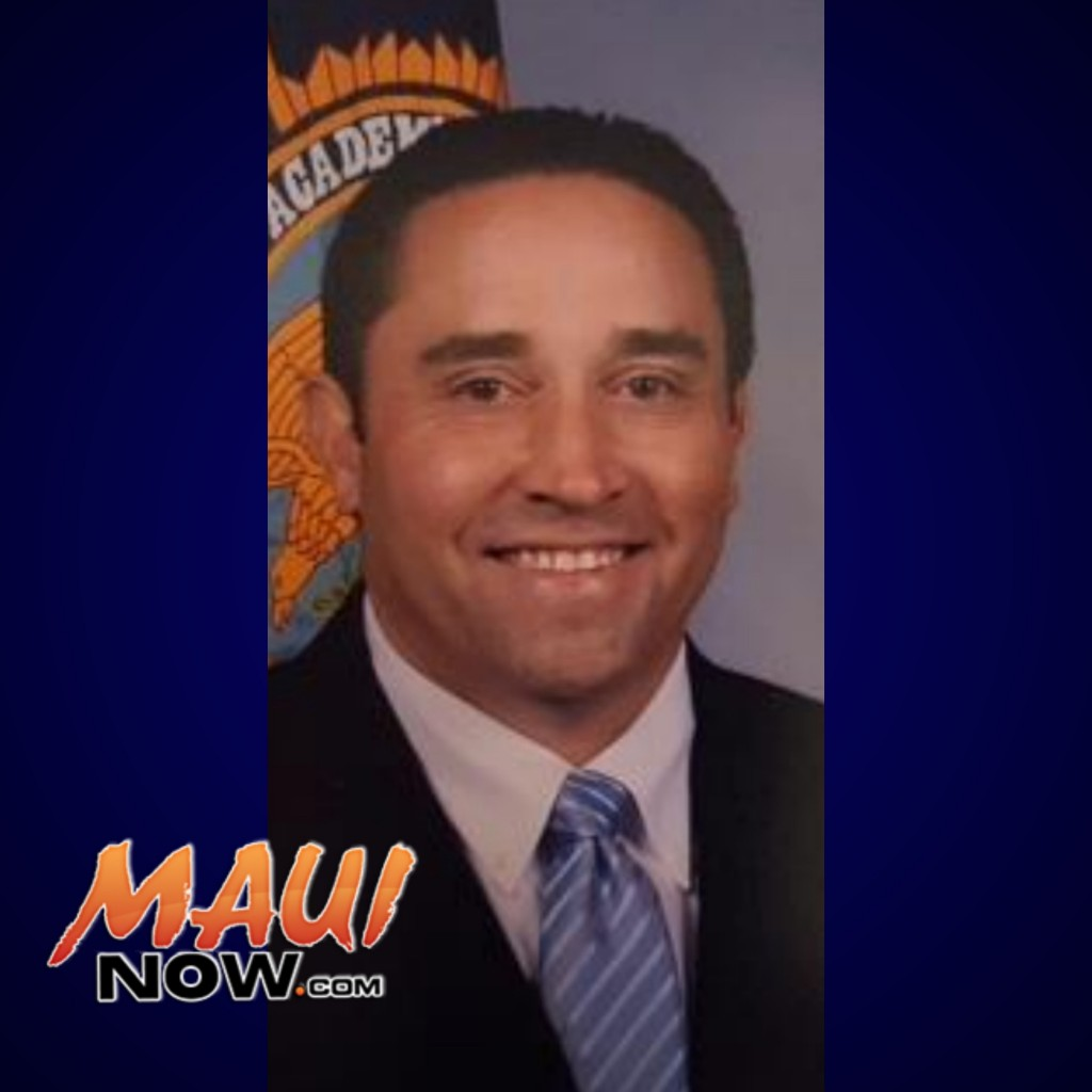 Lieutenant Derrick LOPEZ. Photo credit : Maui Police Department.