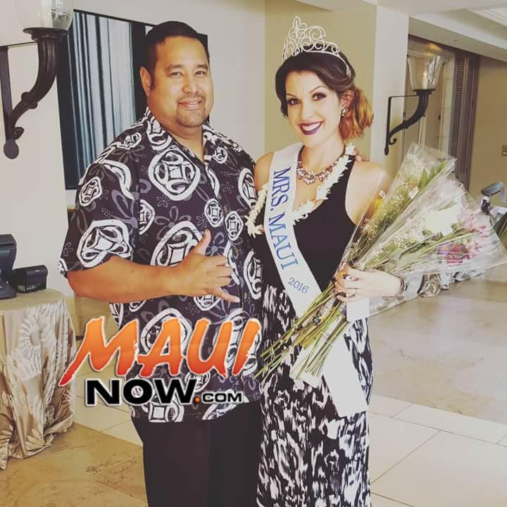 MRS. MAUI 2016 Savannah Leota-Vaituulala with her husband. Photo credit. Jenna Yap.