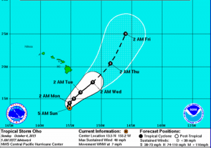 Image: CPHC 5 a.m. track for Oho