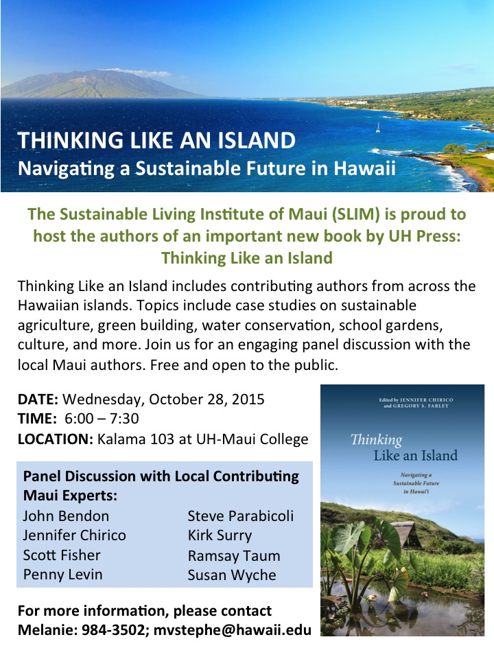 Thinking Like an Island Event