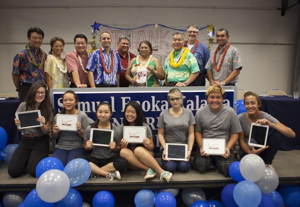 Courtesy photo: Verizon Hawaiʻi. Oct. 16, 2015 at Kalama Intermediate School.