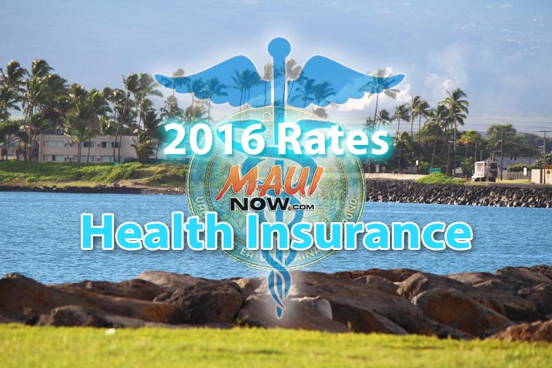 2016 Health Insurance Rates. Maui Now Graphics.