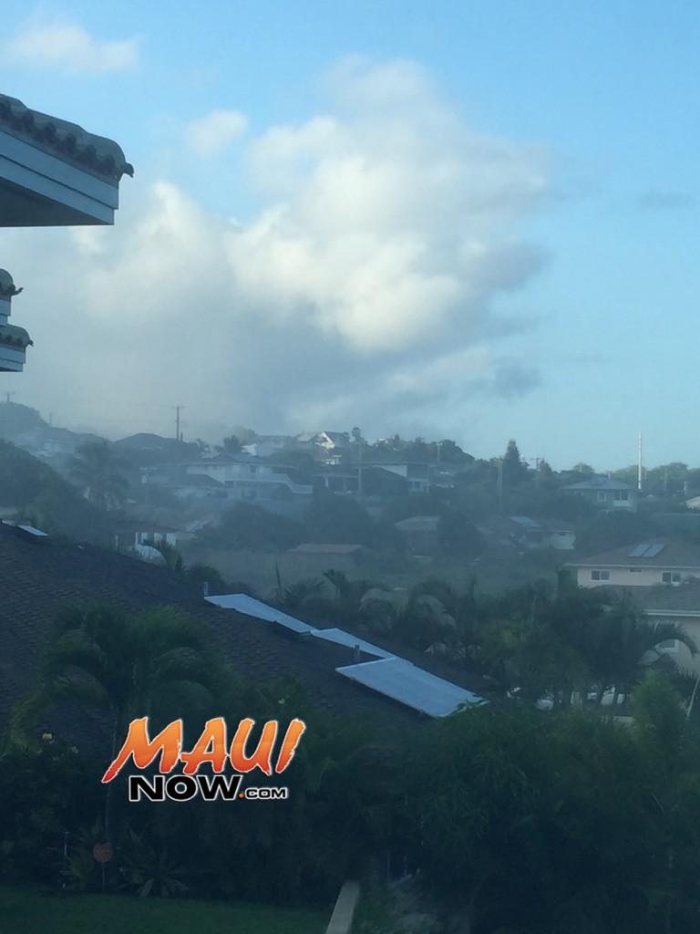 House fire Wailuku. Photo: Malika Dudley.