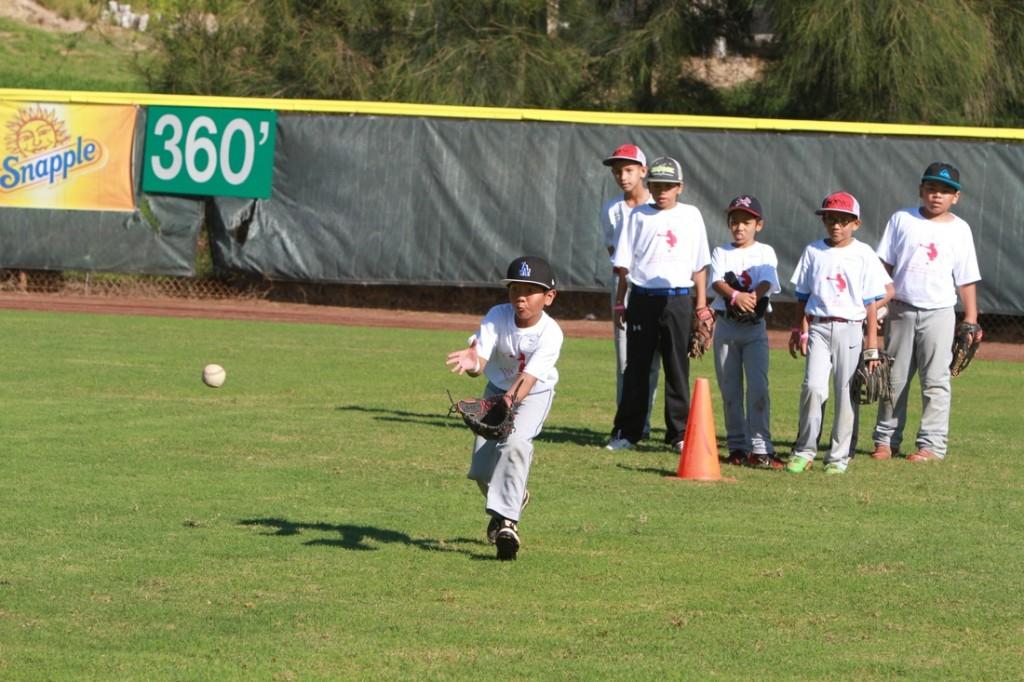 Kurt Suzuki Youth Baseball Clinic. File photo 2014, courtesy Kurt Suzuki Family Foundation.