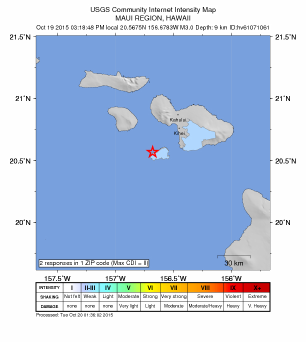 Maui Now No Immediate Advisories After Maui Earthquake - Maui zip code